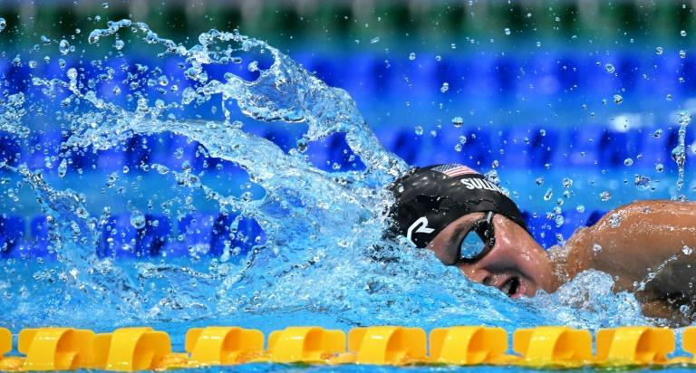 USA swimmer Erica Sullivan trained in a lake during lockdown