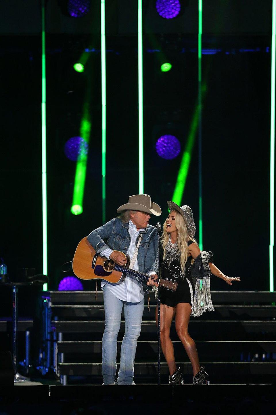 Carrie Underwood and Dwight Yoakam