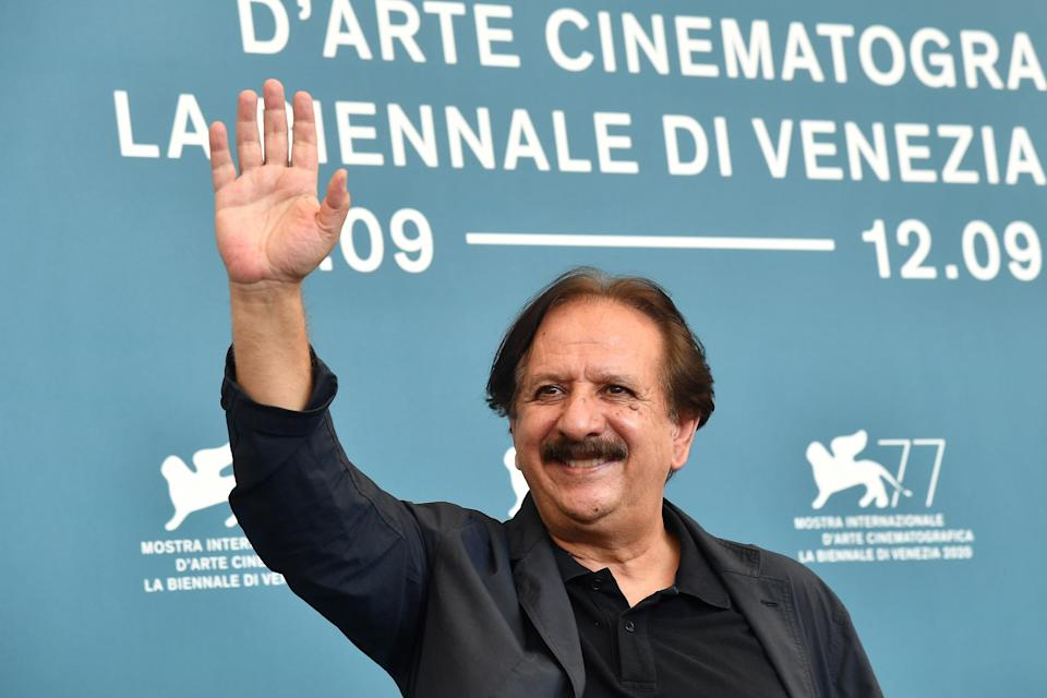 """Iranian director Majid Majidi attends a photocall for the film """"Khorshid"""" (Sun Children) presented in competition on the fifth day of the 77th Venice Film Festival."""