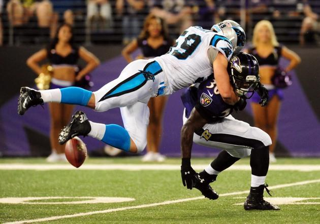 Carolina Panthers linebacker Luke Kuechly puts on quite a show against Baltimore