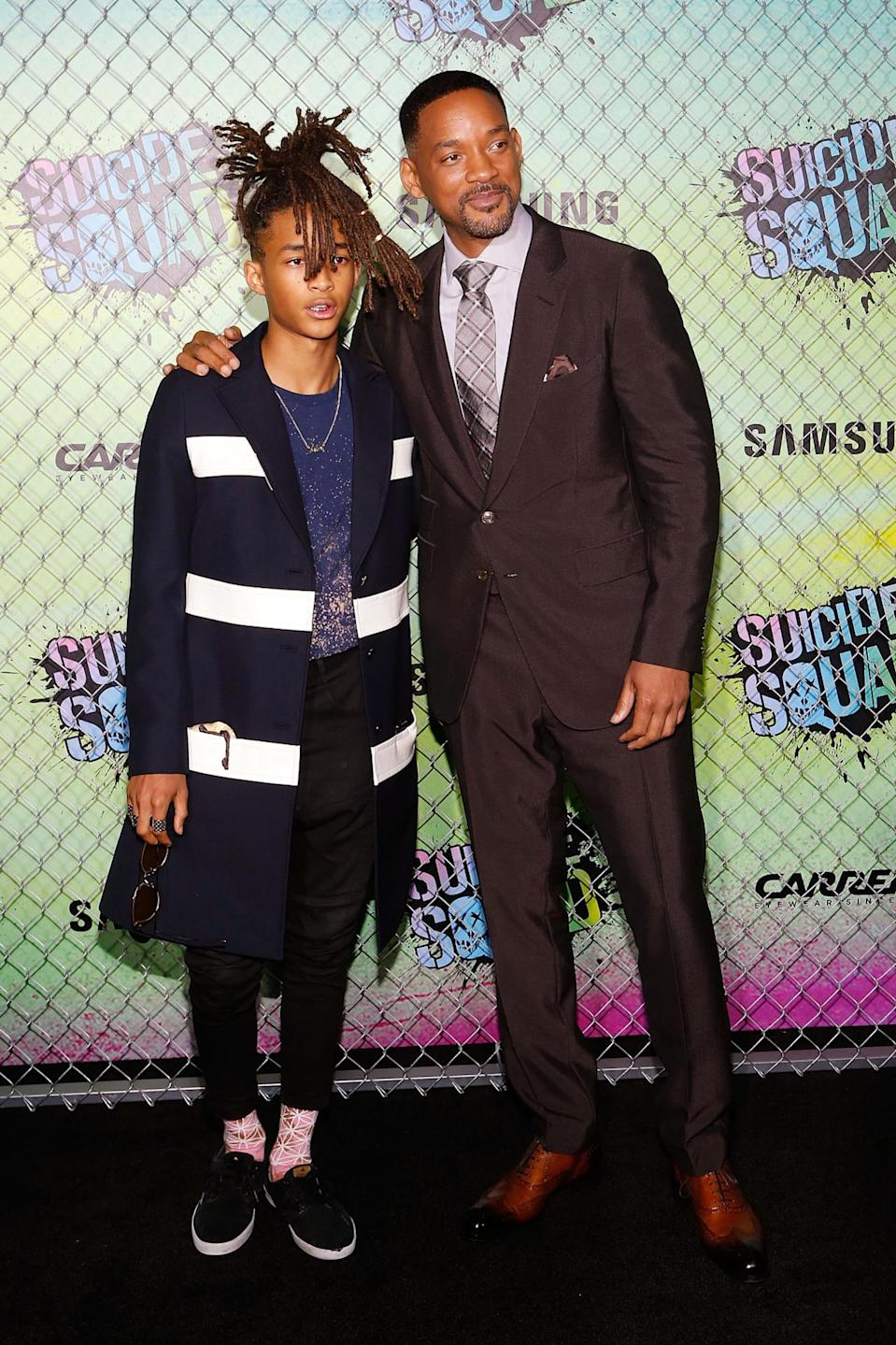 """<p>Will's style is always classic, while son Jaden likes to experiment with his wardrobe choices. Check out other father/son look-a-likes <a href=""""https://ca.style.yahoo.com/11-celebrity-dads-totally-twinning-185045178.html"""" data-ylk=""""slk:here;outcm:mb_qualified_link;_E:mb_qualified_link;ct:story;"""" class=""""link rapid-noclick-resp yahoo-link"""">here</a>. <i>(Photo by Taylor Hill/FilmMagic)</i></p>"""