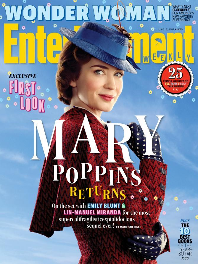 The new Mary Poppins, Emily Blunt, on the cover of Entertainment Weekly (credit: EW/Disney)