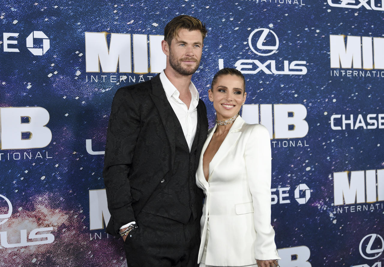 Chris Hemsworth y Elsa Pataky forman una de las parejas más sólidas y atractivas de Hollywood como pudimos comprobar en el estreno neoyorquino de 'Men in Black: International' (14 de junio en cines). (Foto: Evan Agostini / AP)