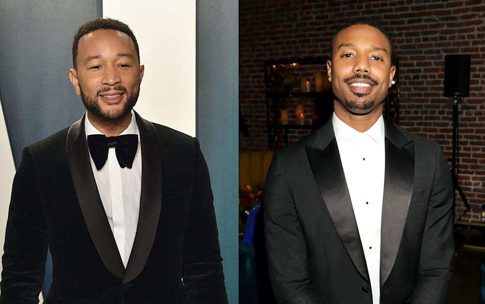 Former Sexiest Man Alive John Legend jokes that he's relieved to hand the title off to Michael B. Jordan