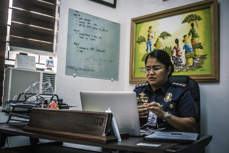 Colonel Sheila Portento is responsible for investigating child exploitation cases in the National Capital Region. Photo: Luis Liwanag