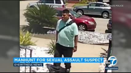 A manhunt is underway in the Mid-City area for a sexual battery suspect with numerous victims.