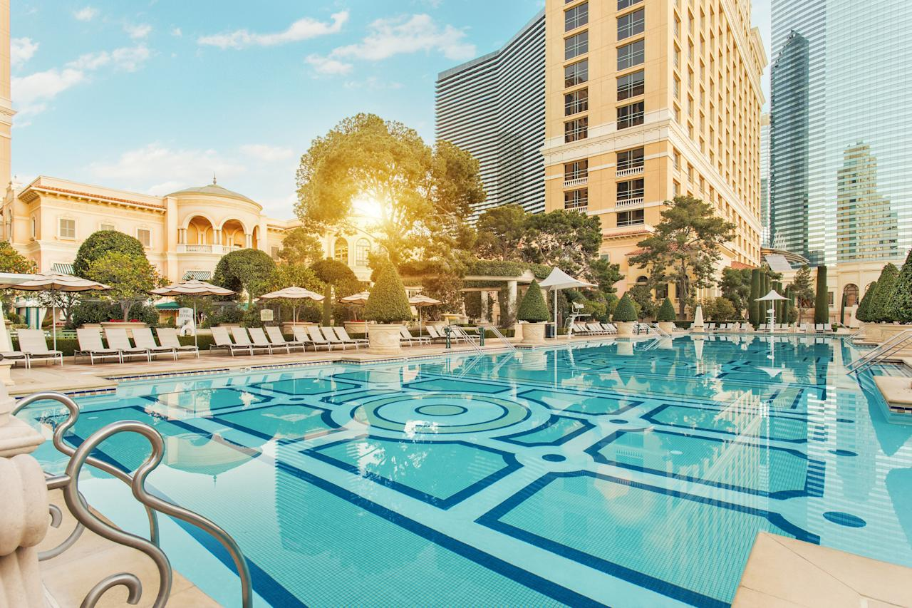 """<p><strong>How did it strike you on arrival?</strong><br> There's a reason Bellagio's lobby is one of the most Instagrammed locations in Las Vegas (as is its Conservatory). It can be argued that Bellagio ushered in the era of the super-resort in Las Vegas. Sure, we already had themed hotels like Luxor and <a href=""""https://www.cntraveler.com/hotels/united-states/las-vegas/the-mirage--las-vegas?mbid=synd_yahoo_rss"""">Mirage</a>, but the now nearly 20-year-old Bellagio signaled absolute luxury when it was built. The lobby hasn't changed much, with its massive installation of Dale Chihuly blown-glass flowers all over the ceiling and the naturally-lit conservatory just beyond, but it still feels like a fabulous garden party whenever you walk in.</p> <p><strong>What's the crowd like?</strong><br> Bellagio gets a huge variety of travelers these days. A lot of the people you'll see in the hotel are here to gawk at the Conservatory, which was modeled after conservatories Steve Wynn had seen in France, and changes its displays—which are made of tens of thousands of flowers and kinetic sculptures—with the seasons. With so many people here to see the famous dancing fountains and other public sights, it's hard to categorize travelers. Needless to say, however, this hotel is busy from all the food traffic. So the lobby is almost always busy-to-crowded.</p> <p><strong>The good stuff: Tell us about your room.</strong><br> About eight years ago, Bellagio set about renovating all of its nearly 4,000 rooms at a cost of $165 million, and has done it in stages. The renovations are finally complete, and the rooms have been updated in the loveliest way. The color scheme is really fresh and inspired by fashion—with lime green and what Bellagio calls """"dragonfruit pink"""" as accent colors to a mostly neutral and pewter background. The rooms start at 510 square feet, so are on the large end for standard rooms. There are also lots of different room categories, so if having a view of the fountains """
