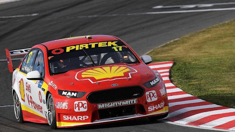 McLaughlin grabs pole. Pic: Getty