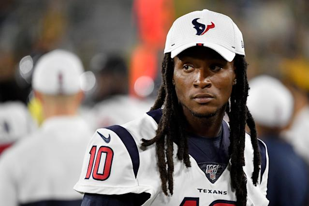 "While supporting Colin Kaepernick, <a class=""link rapid-noclick-resp"" href=""/nfl/players/26650/"" data-ylk=""slk:DeAndre Hopkins"">DeAndre Hopkins</a> told GQ that comments by late <a class=""link rapid-noclick-resp"" href=""/nfl/teams/houston/"" data-ylk=""slk:Texans"">Texans</a> owner Bob McNair made him feel like a slave. (Getty)"