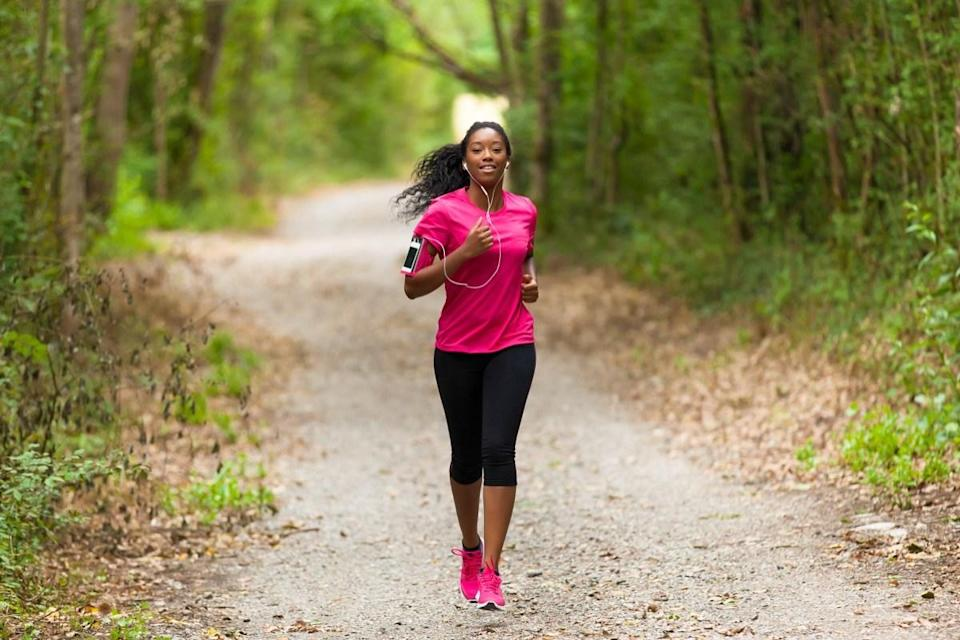 """Aerobic exercise improves blood flow, reduces inflammation and lowers stress hormones—<a href=""""https://health.clevelandclinic.org/why-exercise-protects-your-brains-health-and-what-kind-is-best/"""" rel=""""nofollow noopener"""" target=""""_blank"""" data-ylk=""""slk:all of which supports cognitive health"""" class=""""link rapid-noclick-resp"""">all of which supports cognitive health</a>. Frequent physical activity may even <a href=""""https://bestlifeonline.com/alzheimers-risk/?utm_source=yahoo-news&utm_medium=feed&utm_campaign=yahoo-feed"""" rel=""""nofollow noopener"""" target=""""_blank"""" data-ylk=""""slk:lower your risk of dementia"""" class=""""link rapid-noclick-resp"""">lower your risk of dementia</a>."""