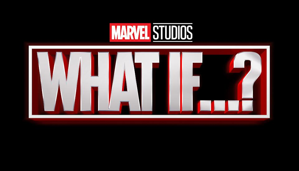 The title treatment for Marvel Studios' What If...? (Disney)