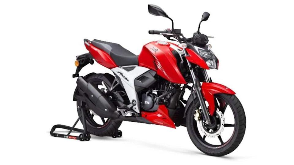 2021 TVS Apache RTR 160 4V motorbike launched in India