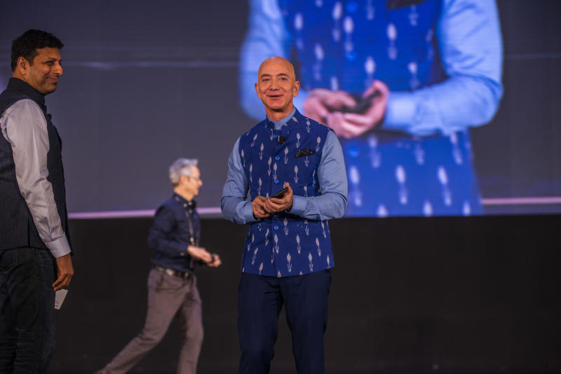 Amazon CEO Jeff Bezos Attends Amazon's Annual Smbhav Event In Delhi