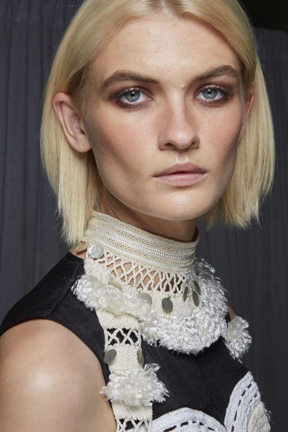 """<p>Love it or loathe it, powdery skin has also had its runway comeback this season. Light and shadow were explored at the Altuzarra and Dundas shows as cheekbones were defined with heavy contour set upon a matte base. Meanwhile at Jonathan Simkhai, Rodarte and Coach, the model's complexions were left flat and doll-like with a smooth finish.</p><p><strong>Get the look: </strong>Chanel Ultra Le Teint Velvet, £40</p><p> <a class=""""link rapid-noclick-resp"""" href=""""https://www.johnlewis.com/chanel-ultra-le-teint-velvet-ultra-light-and-longwearing-formula-blurring-matte-finish-perfect-natural-complexion/p4417254"""" rel=""""nofollow noopener"""" target=""""_blank"""" data-ylk=""""slk:SHOP NOW"""">SHOP NOW</a></p>"""