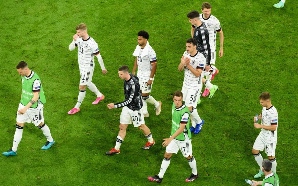 Germany trudge off the pitch after their 1-0 defeat to France - GETTY IMAGES