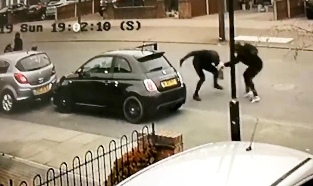 Ryan struggled with his attackers who attempted to steal his Fiat 500 (SWNS)