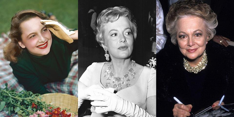 <p>Olivia de Havilland passed away peacefully in her sleep on Saturday. The legendary actress was 104 years old. In honor of her incredible legacy, we're taking a look back at her life in photos. Read on for pictures from her iconic role in <em>Gone with the Wind </em>to her appearance at the 75th Annual Academy Awards.</p>