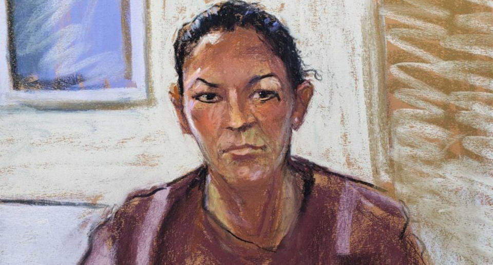 A courtroom sketch of Ghislaine Maxwell.
