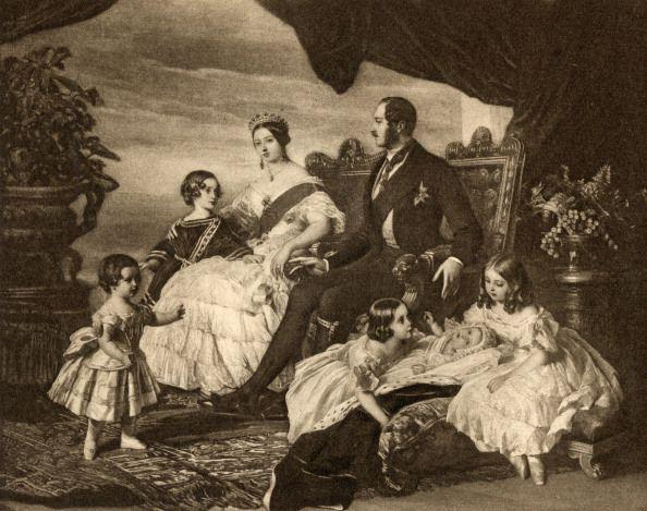 """<p>Queen Victoria had nine children throughout her reign as Queen of England — so she knew a thing or two about maternity wear. However, maternity wear during her time period sought to conceal a woman's """"condition"""" and used harsh accessories, like <a href=""""https://www.elle.com/fashion/personal-style/g28423/maternity-style-evolution/?slide=14"""" rel=""""nofollow noopener"""" target=""""_blank"""" data-ylk=""""slk:pregnancy corsets"""" class=""""link rapid-noclick-resp"""">pregnancy corsets</a> and <a href=""""https://www.elle.com/fashion/personal-style/g28423/maternity-style-evolution/?slide=16"""" rel=""""nofollow noopener"""" target=""""_blank"""" data-ylk=""""slk:ruffles"""" class=""""link rapid-noclick-resp"""">ruffles</a> to hide their bumps. </p>"""