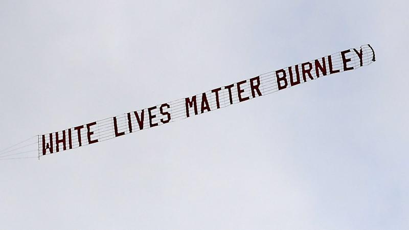 Burnley CEO slams 'disgusting' White Lives Matter banner after Man City match