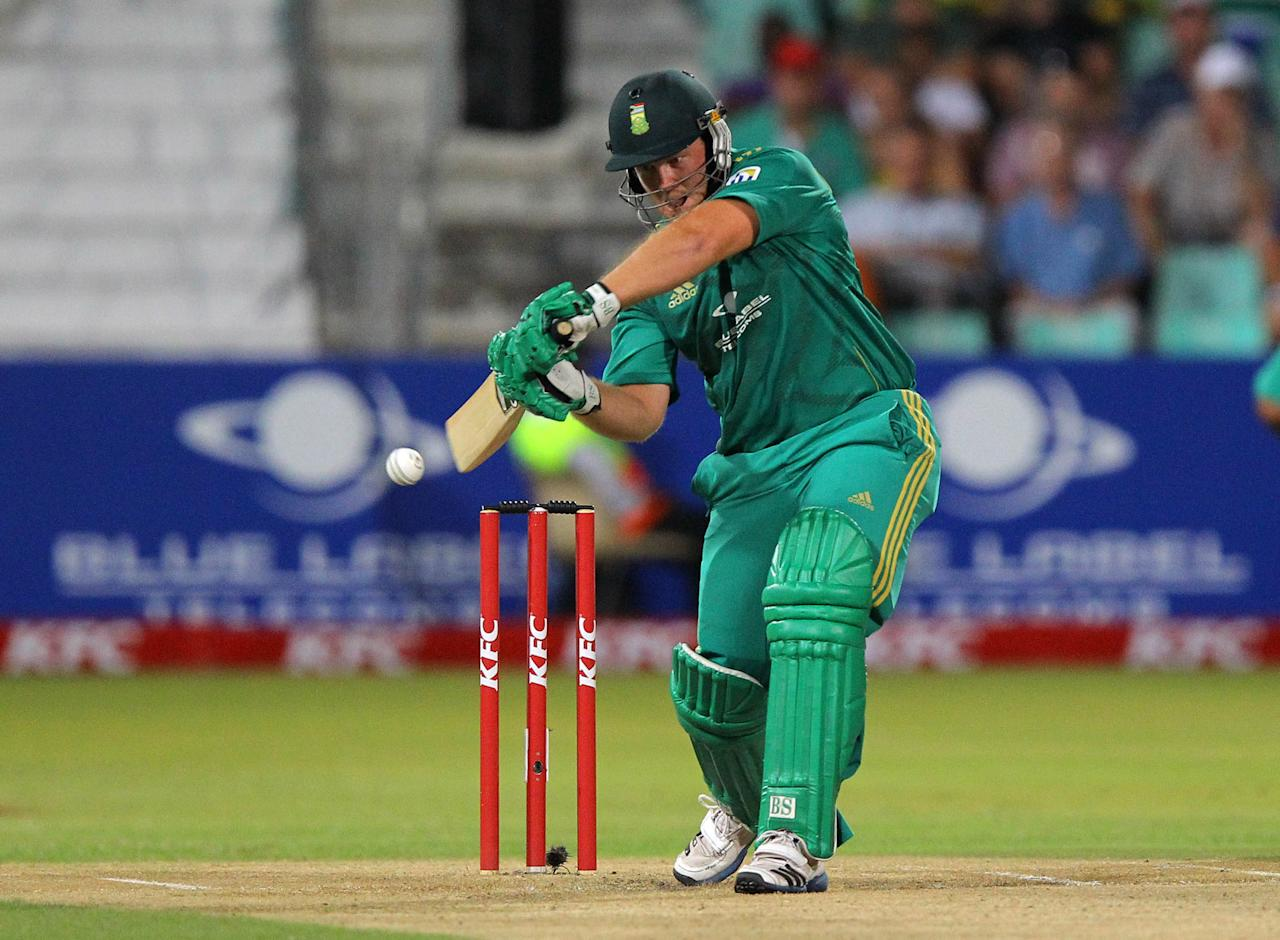 DURBAN, SOUTH AFRICA - DECEMBER 21:  Richard Levi of South Africa bats during the 1st T20 match between South Africa and New Zealand at Sahara Park Kingsmead on December 21, 2012 in Durban, South Africa. (Photo by Anesh Debiky/Gallo Images/Getty Images)