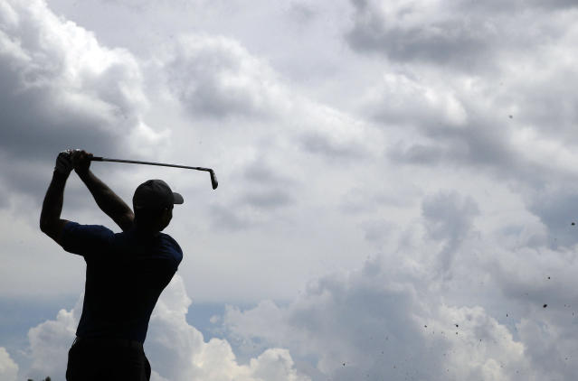 Ahead of PGA Championship in St. Louis, hackers grab hold of computer servers, per report. (AP Photo/Charlie Riedel)