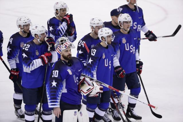 The quality of play for Team USA (pictured) and the rest of the Olympic men's hockey field has been noticeably down. (AP)