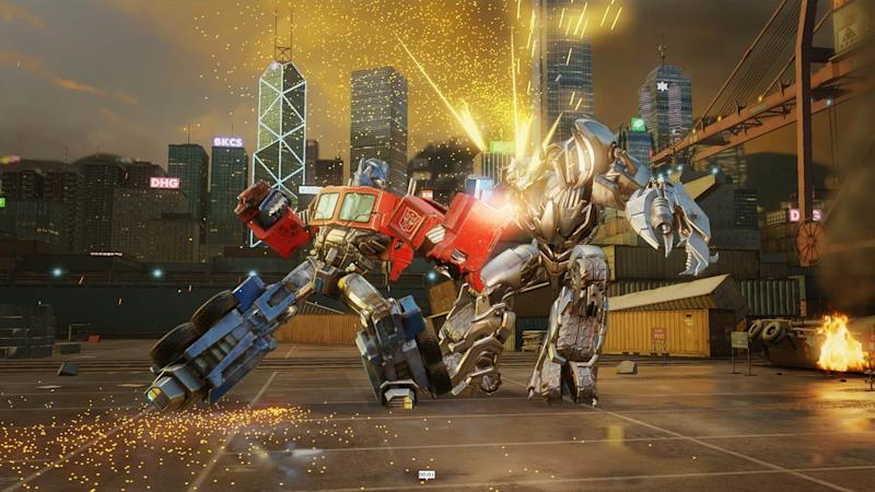Optimus Prime fights ... well, considering it's a Bayformer, I'm not sure who Prime's fighting.