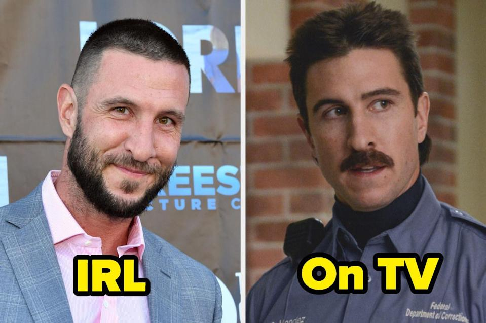 """<div><p>""""Pablo is one of the most slept-on actors, and I think it's because of all the horrible characters he plays. Pornstache is a huge creeper on <i>OITNB</i>, but Pablo seems really wholesome in real life.""""</p><p>—<a href=""""https://www.buzzfeed.com/nycehannah"""" rel=""""nofollow noopener"""" target=""""_blank"""" data-ylk=""""slk:nycehannah"""" class=""""link rapid-noclick-resp"""">nycehannah</a></p></div><span> Getty Images / Courtesy Netflix</span>"""