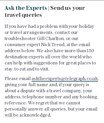 Ask the Experts | Send us your travel queries