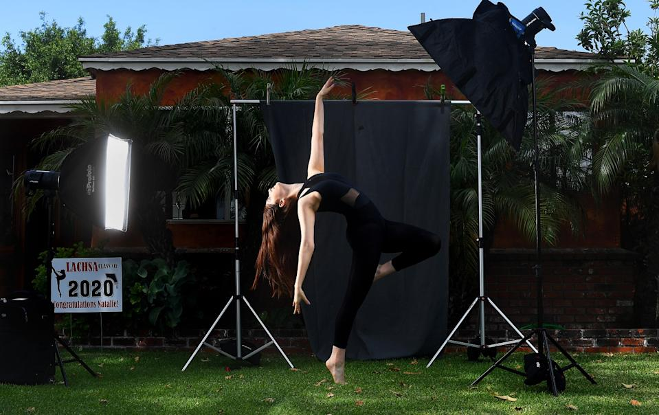 "Natalie Aronno, a first-generation college student who will be attending UC Irvine to study dance, is photographed at home in South Gate. <span class=""copyright"">(Christina House / Los Angeles Times)</span>"