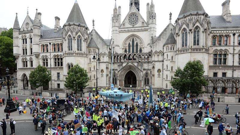 Protesters take action across five UK cities calling on the Government to halt wildlife losses and cut greenhouse gases to net zero by 2025.