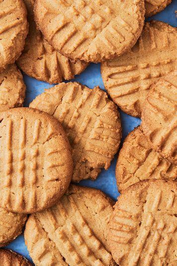 "<p>Peanut butter cookies are one of those desserts we're always in the mood for. They're salty, sweet, and more rich than a chocolate chip cookie ever could be.</p><p>Get the <a href=""http://www.delish.com/uk/cooking/recipes/a28829515/easy-peanut-butter-cookie-recipe/"" rel=""nofollow noopener"" target=""_blank"" data-ylk=""slk:Peanut Butter Cookies"" class=""link rapid-noclick-resp"">Peanut Butter Cookies</a> recipe. </p>"