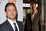 """<p>Hunnam famously pulled out of the much-hyped <em>Fifty Shades </em>adaptation, with the part eventually going to Jamie Dornan. Scheduling conflicts between the movie, his show <em>Sons of Anarchy</em>, and the Guillermo del Toro film <em>Crimson Peak</em> became too much to handle, and Hunnam called <em>Fifty Shades</em> director Sam Taylor-Johnson with the bad news. """"We both cried our eyes out on the phone for 20 minutes,"""" he <a href=""""http://variety.com/2015/film/news/charlie-hunnam-fifty-shades-of-grey-exit-1201592627/"""" rel=""""nofollow noopener"""" target=""""_blank"""" data-ylk=""""slk:told V Man"""" class=""""link rapid-noclick-resp"""">told <em>V Man</em></a>. """"There was a lot of personal stuff going on in my life that left me on real emotional shaky ground and mentally weak. I just got myself so f--king overwhelmed, and I was sort of having panic attacks about the whole thing."""" </p>"""