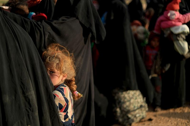 Women and children are among nearly 5,000 people evacuated by US-led forces from the last IS redoubt in eastern Syria in recent days (AFP Photo/Delil SOULEIMAN)