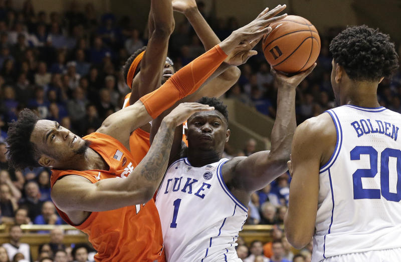 Syracuse Upsets No 1 Duke 95 91 In Ot After Jones Injury