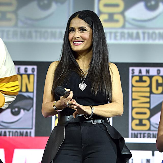 Salma Hayek is showing off her curves in a new Instagram pic. (Photo: Alberto E. Rodriguez/Getty Images for Disney)