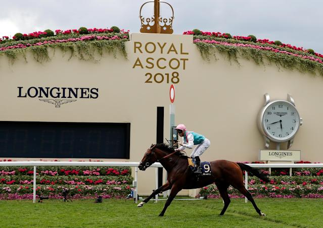 Horse Racing - Royal Ascot - Ascot Racecourse, Ascot, Britain - June 20, 2018 James McDonald on Expert Eye wins the 5.35 Jersey Stakes Action Images via Reuters/Paul Childs