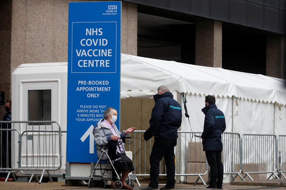 <p>More than 4.2 million people have already had the jabs in the UK</p> (REUTERS)