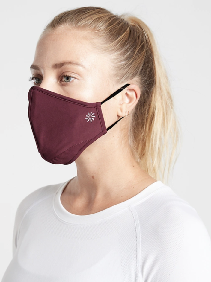The masks are available in two colorway sets. (Photo: Athleta)