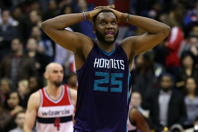 Al Jefferson tries to forget how good Popeye's is. (Patrick Smith/Getty Images)