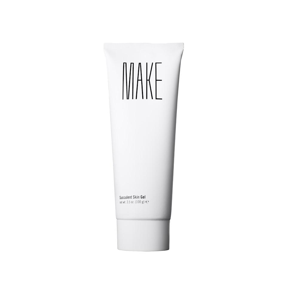 """<p>Chock full of soothing ingredients like aloe vera, chamomile, and calendula, this lightweight gel seeps into skin to coddle sensitive, sun-reddened, and just-plain-dry skin.</p><p>$25 (<a rel=""""nofollow"""" href=""""https://www.makebeauty.com/products/succulent-gel?mbid=synd_yahoobeauty"""">makebeauty.com</a>)</p>"""