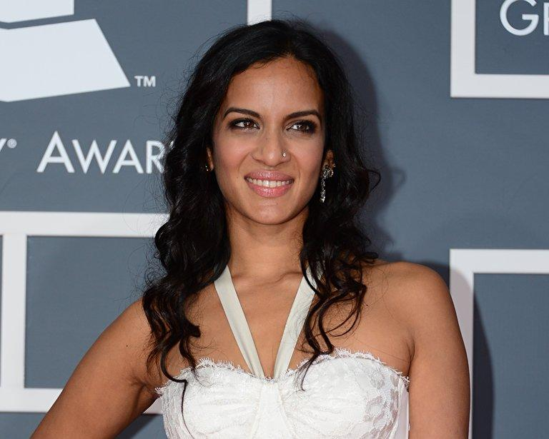 Anoushka Shankar arrives at the Staples Center for the 55th Grammy Awards in Los Angeles, California, February 10, 2013