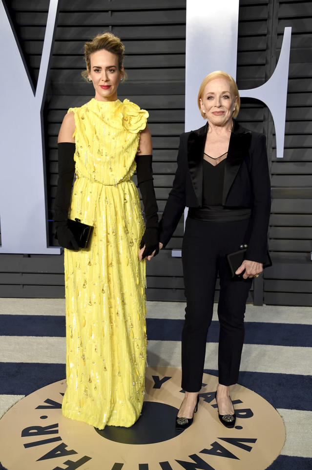 <p>The couple were among those hitting up the <em>Vanity Fair</em> party. (Photo: Evan Agostini/Invision/AP) </p>