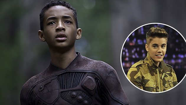 Jaden Smith in 'After Earth' and Justin Bieber