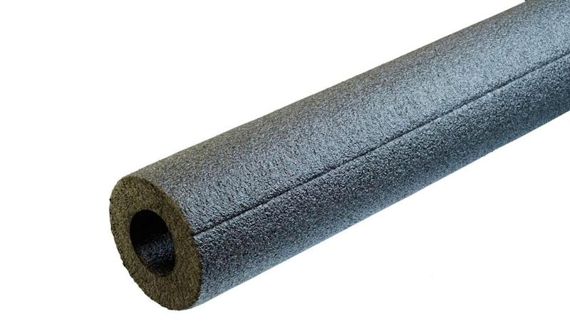 Foam pipe insulation with this form factor can be quickly snapped around pipes—a much easier installation than alternatives.