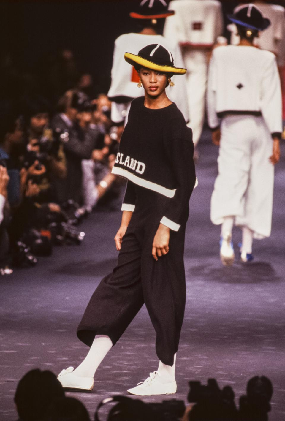<p>Sonia Rykiel's Paris shows were a defining part of Paris fashion in the late '80s. So was the supermodel on the runway.</p>