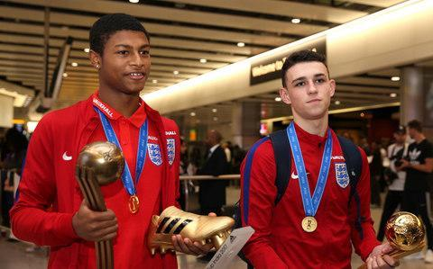 <span>Rhian Brewster and Phil Foden's mantelpieces will be full after their summer success</span> <span>Credit: PA </span>