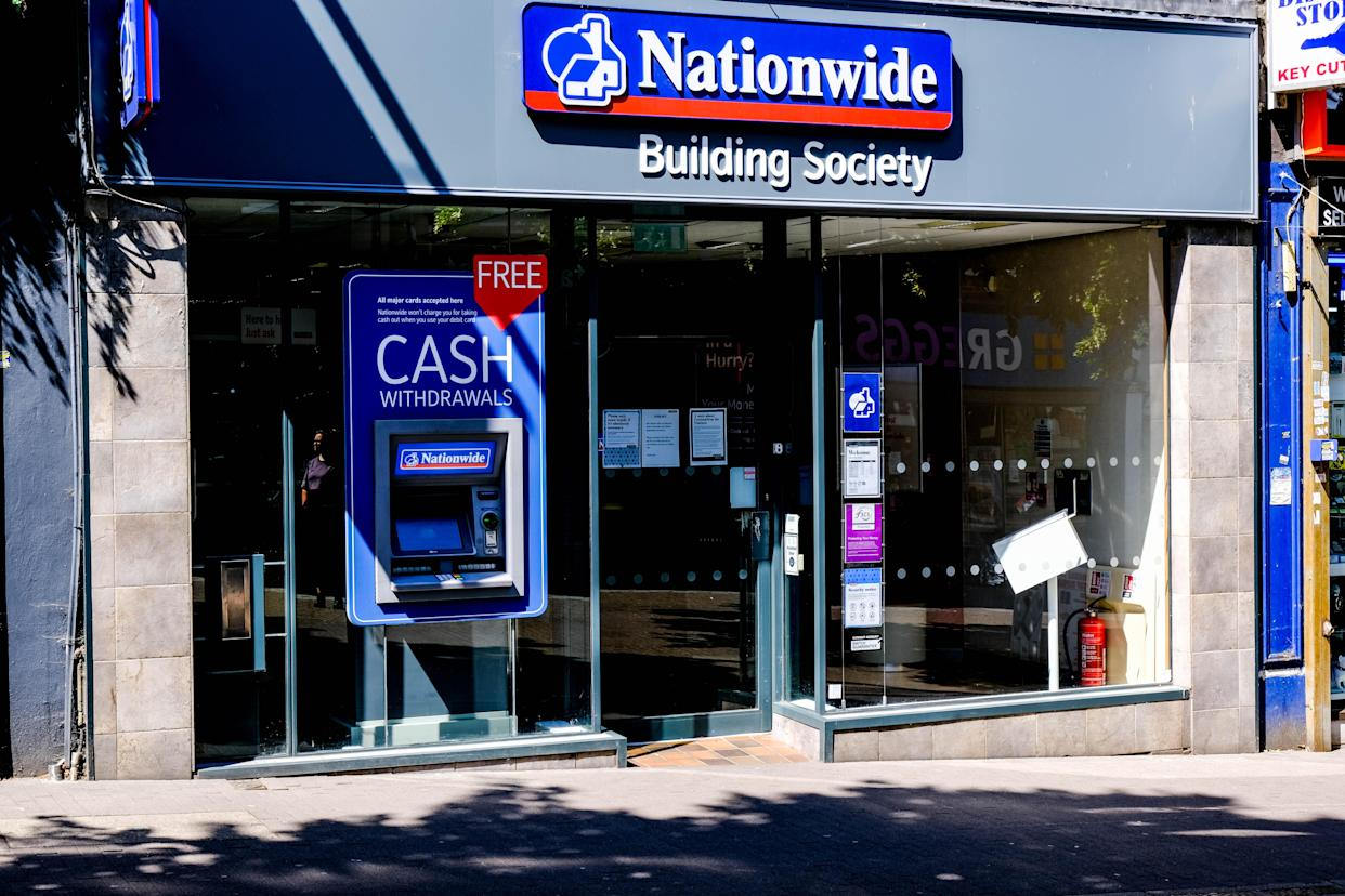 London, UK, May 31, 2020, High Street Branch Of Nationwide Building Society, directors Of The Company Think customers Missing Payments On Mortages Should Be Black Listed