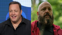 """Kevin James is known as the cuddly leading man of broad comedies like <em>Paul Blart: Mall Cop</em> and a regular supporting player in Adam Sandler movies. He shaved his head, grew a sinister beard and daubed on a swastika head tattoo to play the dangerous Nazi at the heart of horror movie <em>Becky. </em>A great example of a <a href=""""https://uk.style.yahoo.com/comic-actors-dark-roles-151300775.html"""" data-ylk=""""slk:comedian going very dark;outcm:mb_qualified_link;_E:mb_qualified_link;ct:story;"""" class=""""link rapid-noclick-resp yahoo-link"""">comedian going very dark</a> indeed. (Credit: Richard Shotwell/Invision/AP/Vertigo Releasing)"""
